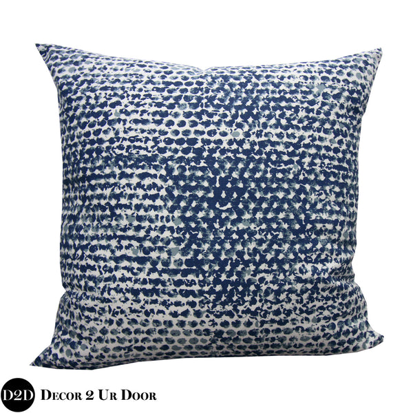 Navy Zoey Square Pillow Cover