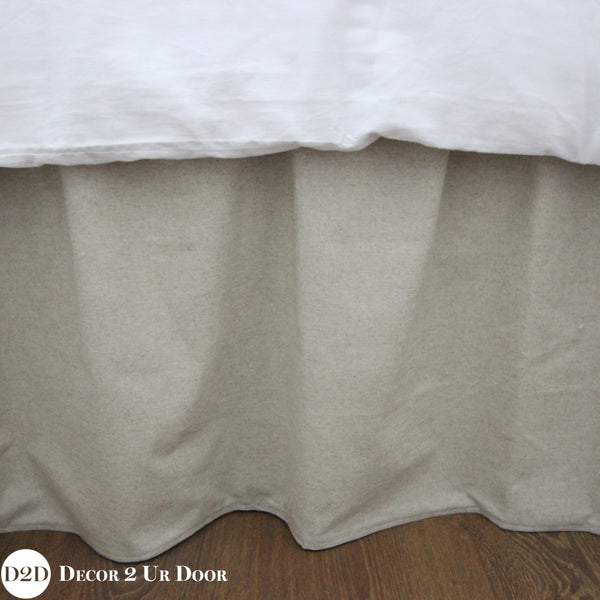 Neutral Tan Dorm Bed Skirt & Headboard Bundle