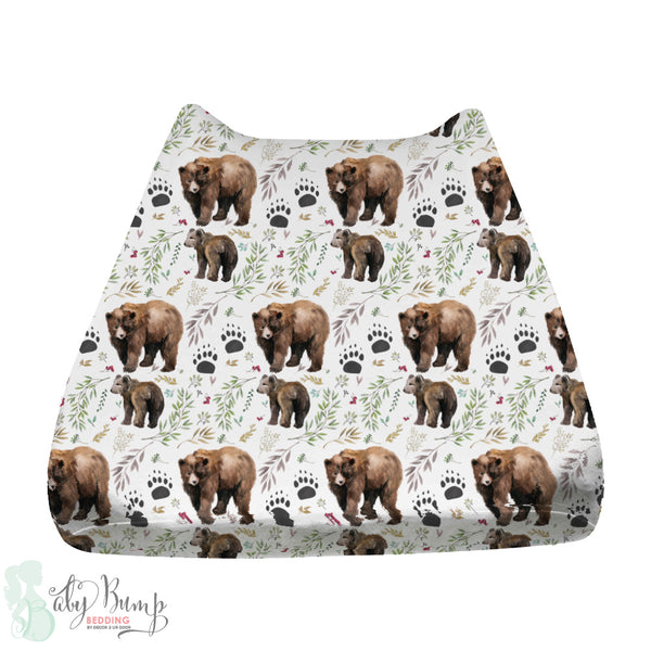 Adventure Woodland Bear Cub Baby Changing Pad Cover