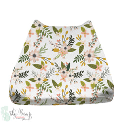 Boho Floral Woodland Baby Changing Pad Cover