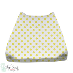 Metallic Gold Polka Dots Baby Changing Pad Cover