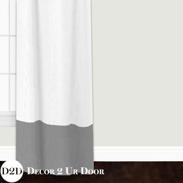White Linen & Grey Closet + Window Curtain