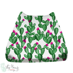 Watercolor Cactus and Hot Pink Baby Changing Pad Cover