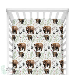 Adventure Woodland Bear Cub Fitted Crib Sheet