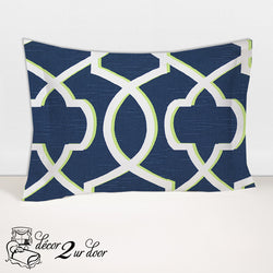 Navy & Lime Green Morrow Designer Sham