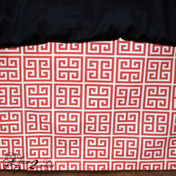 Coral Towers Designer Dorm Bed Skirt