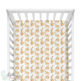 Watercolor Bunny Bumperless Crib Bedding Set