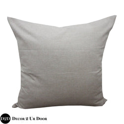 Solid Tan Euro Pillow Cover