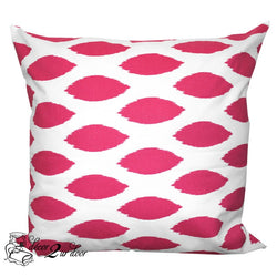 Hot Pink Chipper Designer Euro Pillow Cover
