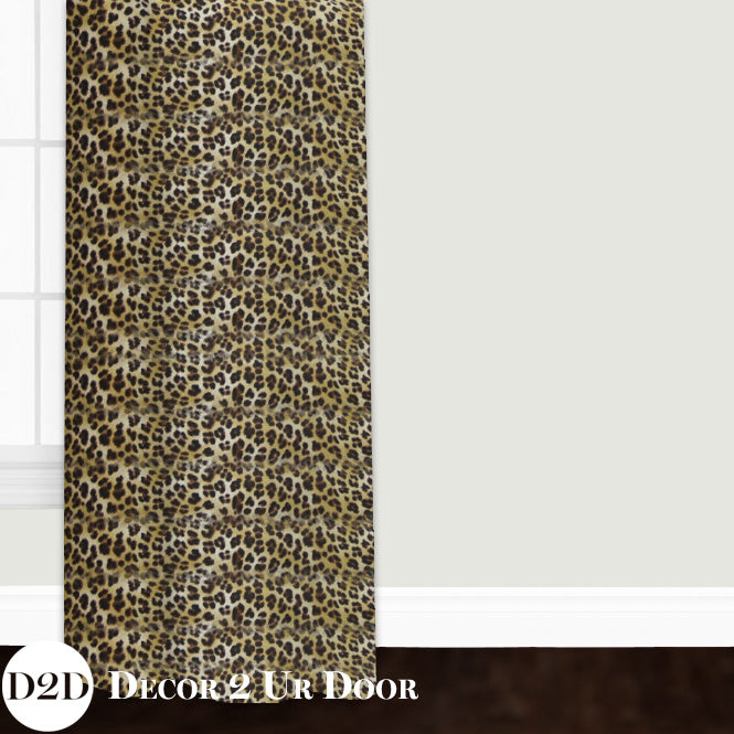Cheetah Print Custom Window Curtain/Closet Panel