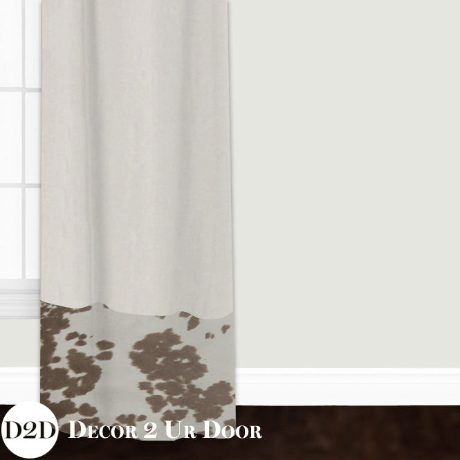 Tan Cowhide Closet + Window Curtain