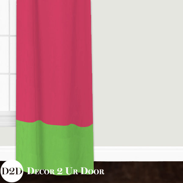 Hot Pink & Green Closet + Window Curtain