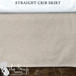 Tan Linen Baby Crib Skirt