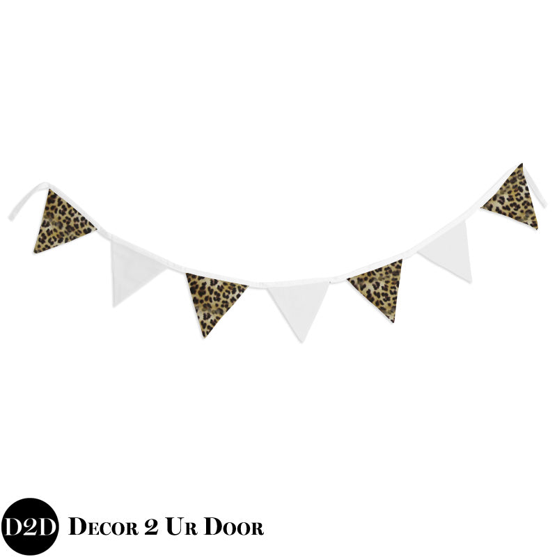 Cheetah Print Wall Fabric Pennant Banner
