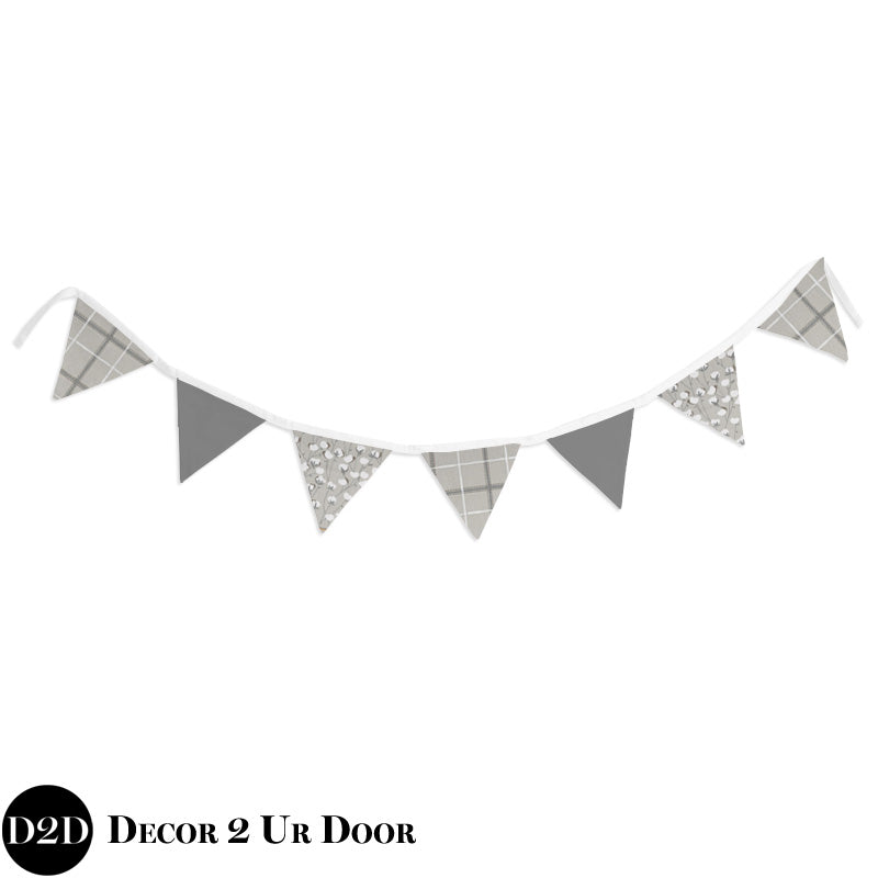Cotton Print Wall Fabric Pennant Banner