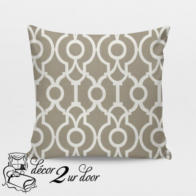 Taupe Lyon Designer Euro Pillow Cover