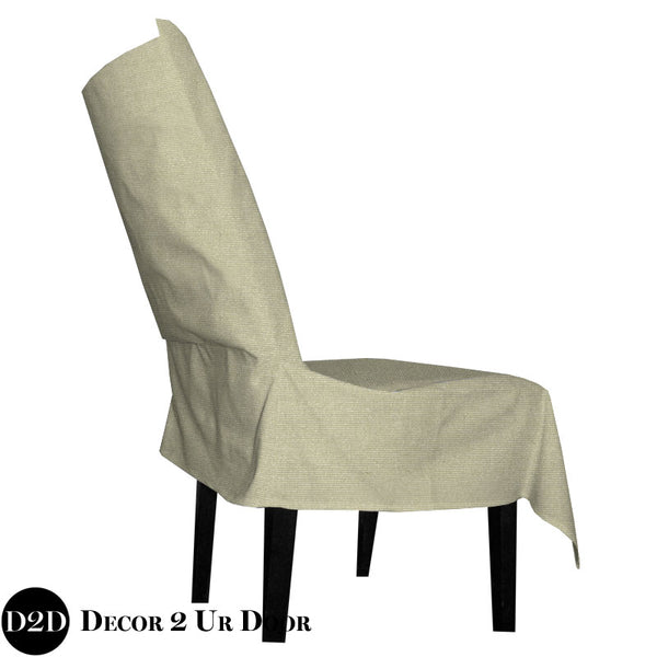 Gold Metallic Glitz Dorm Chair Cover with Storage Pocket