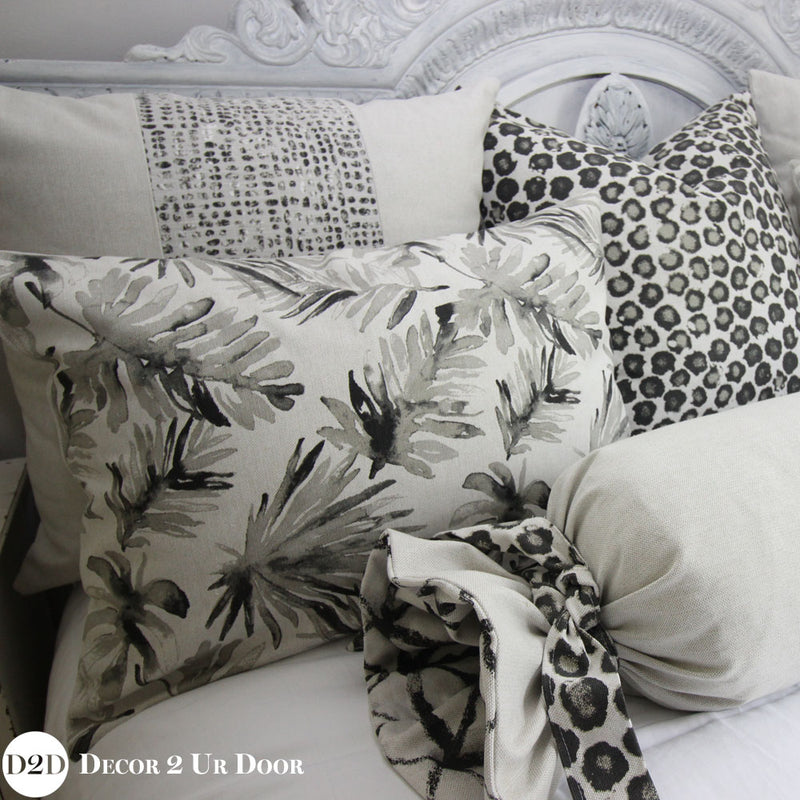Black Palm Frond & Laken Designer Bedding Collection