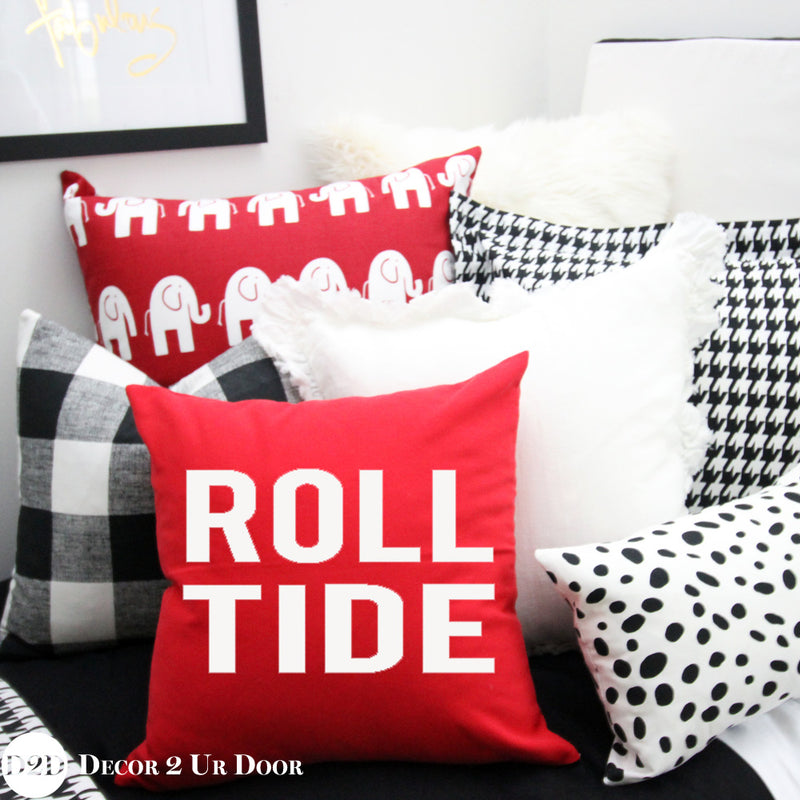 University of Alabama {UA} Roll Tide Square Pillow Cover
