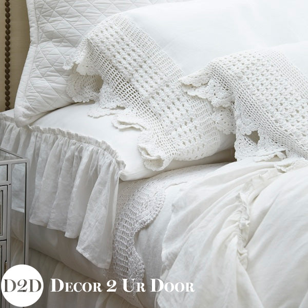 Eyeline Linen Crochet Pillowcase