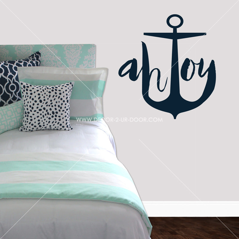 Ahoy Anchor Marker Vinyl Wall Decal