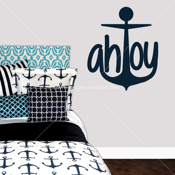 Ahoy Anchor Vinyl Wall Decal