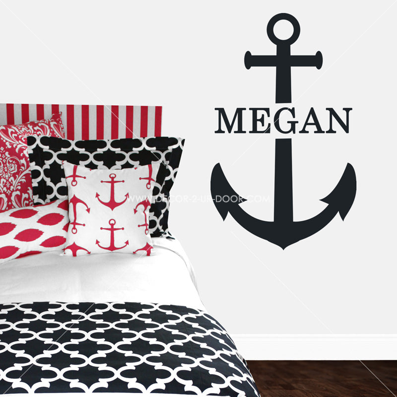 Anchor & Name Personalized Vinyl Wall Decal