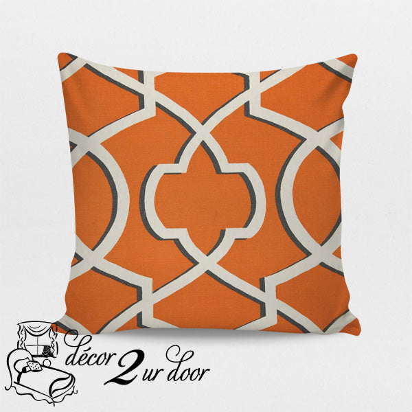 Apache Orange Morrow Square Throw Pillow Cover