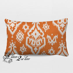 Apache Orange Designer Lumbar Pillow Cover
