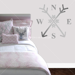 Arrows Compass Vinyl Wall Decal