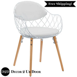 Modern Basket Dining Metal Chair