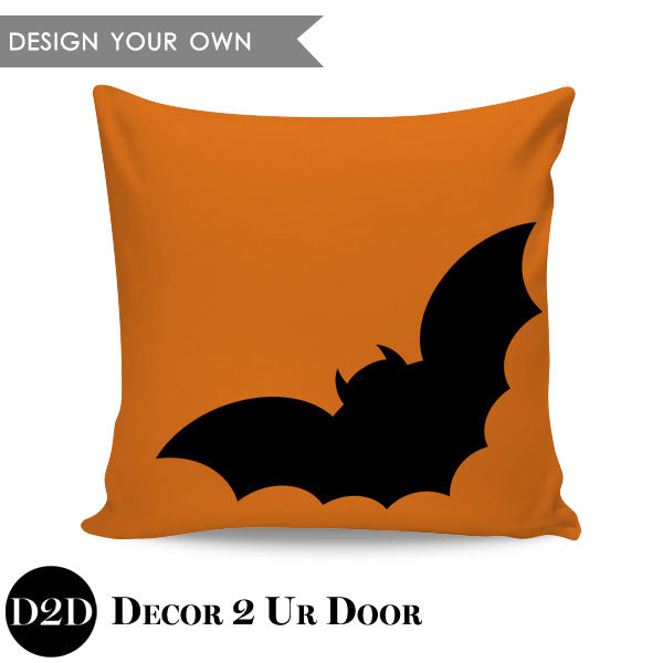 Bat Square Throw Pillow Cover