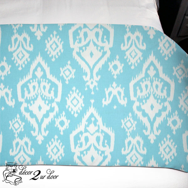 Sky Blue Raji Dorm TXL Bed Scarf
