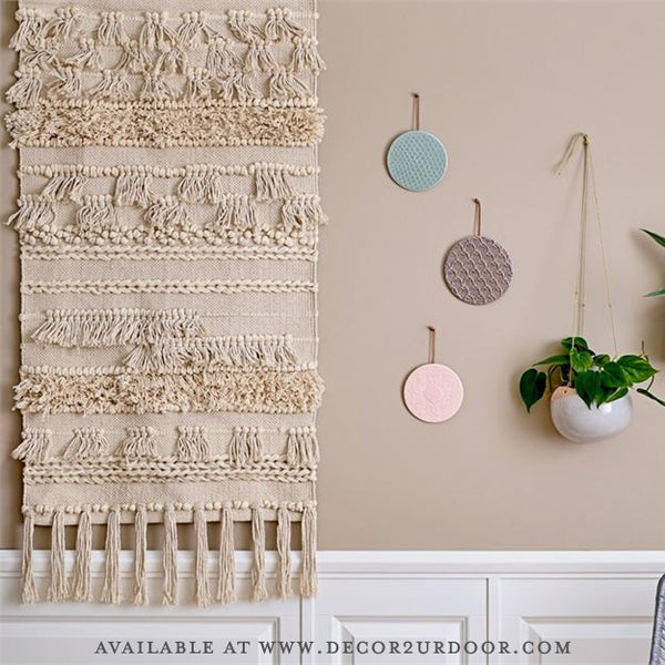 Beige Cotton Wall Tapestry