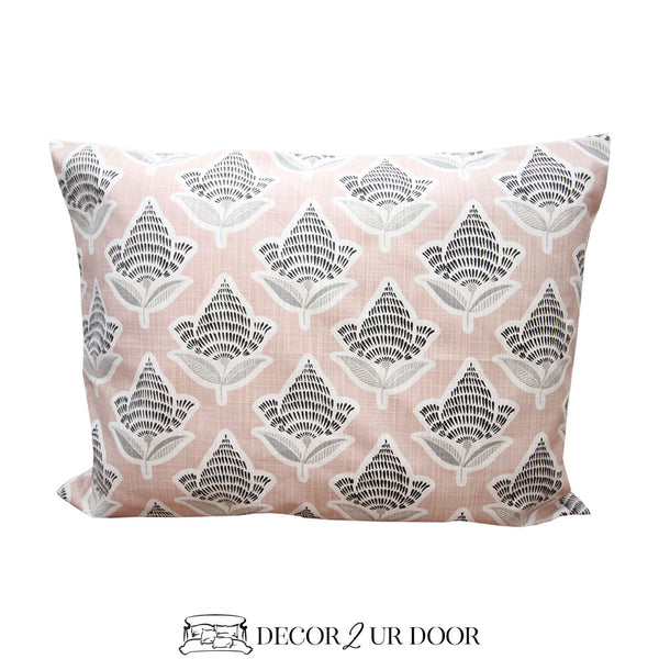 Black and Blush Mosaic Designer Sham