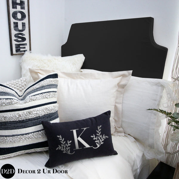 Magnolia Black & Ivory Organic Textured Designer Bedding Collection
