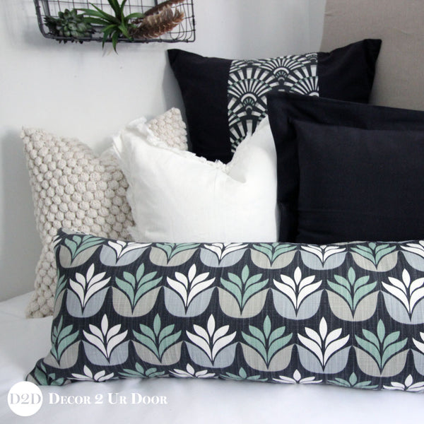 Tan & Black Succulent Designer Bedding Collection