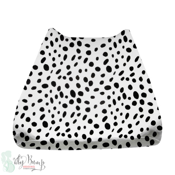 Black & White Dalmatian Print Baby Changing Pad Cover