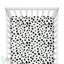 Black & White Dalmatian Print Fitted Crib Sheet
