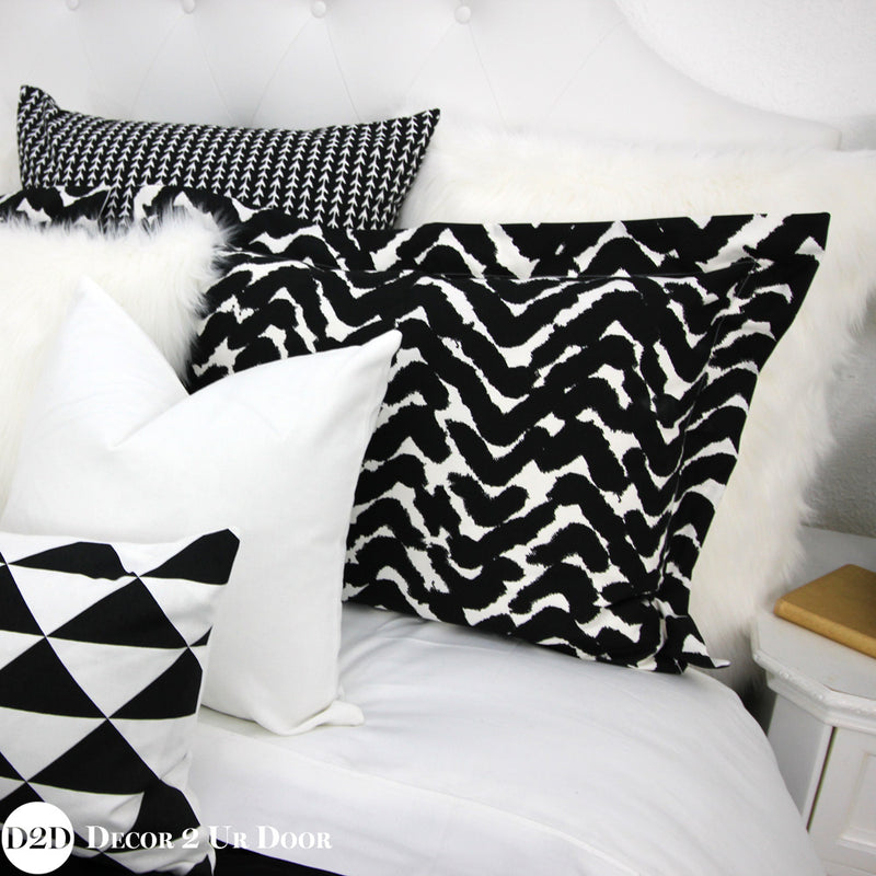 Black, White & Gold Marker Designer Bedding Collection