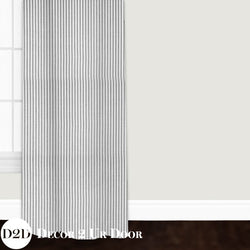 Farmhouse Black Ticking Stripe Closet + Window Curtain