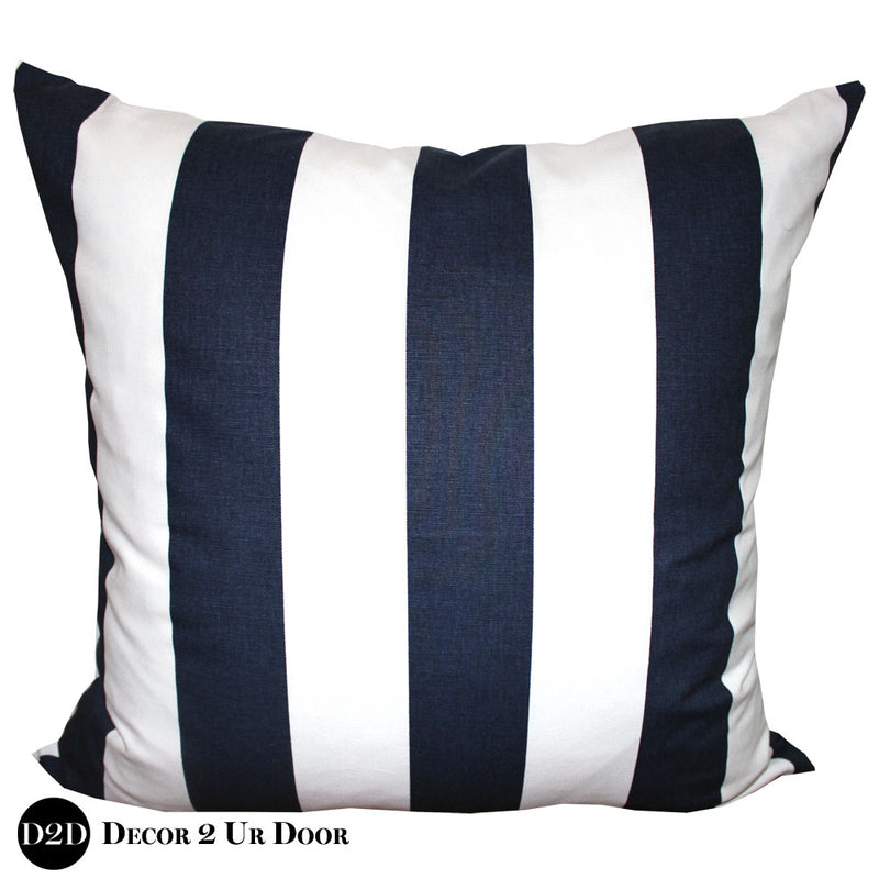 Black & White Vertical Stripes Euro Pillow Cover