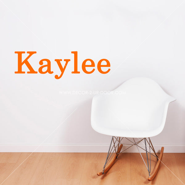 Block Name Personalized Vinyl Wall Decal