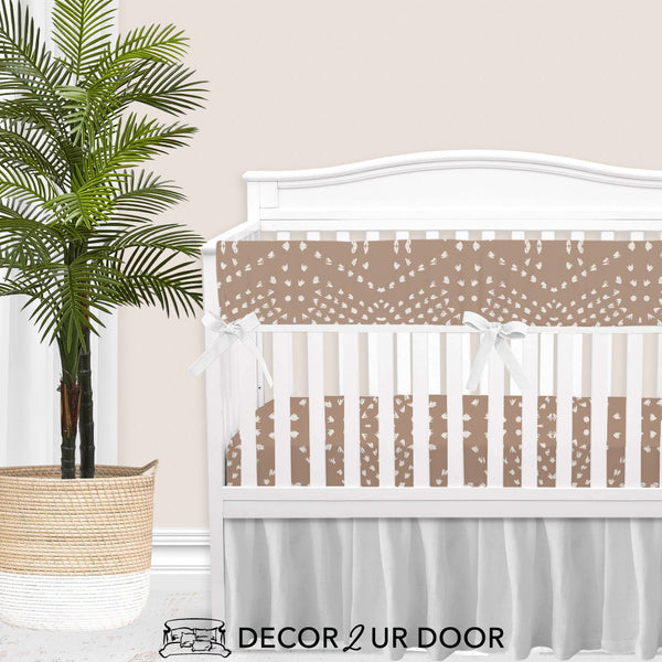 Blush Boho Tile Baby Girl Crib Bedding Set