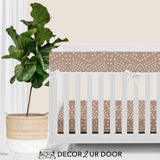 Blush Boho Tile Bumperless Crib Bedding Set