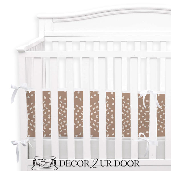 Blush Boho Tile 2-in-1 Crib Bumper/Rail Cover