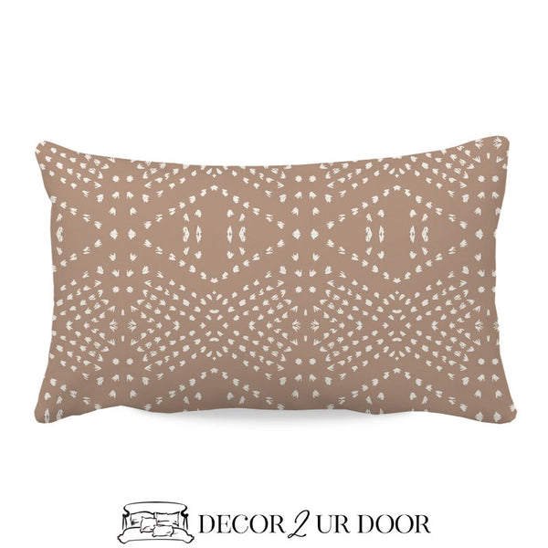 Blush Boho Tile Lumbar Nursery Throw Pillow Cover