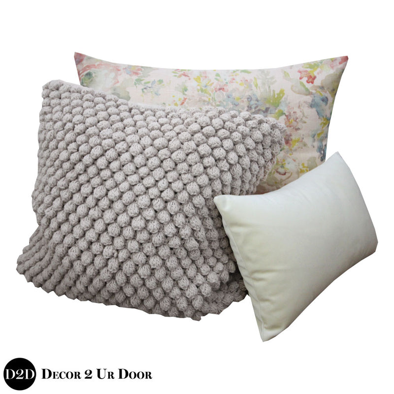 Blush Floral Rose Pillow Pile