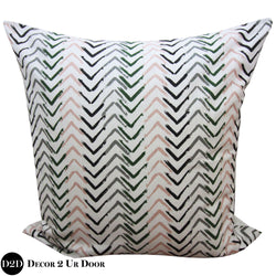 Blush Pink & Grey Arrows Euro Pillow Cover