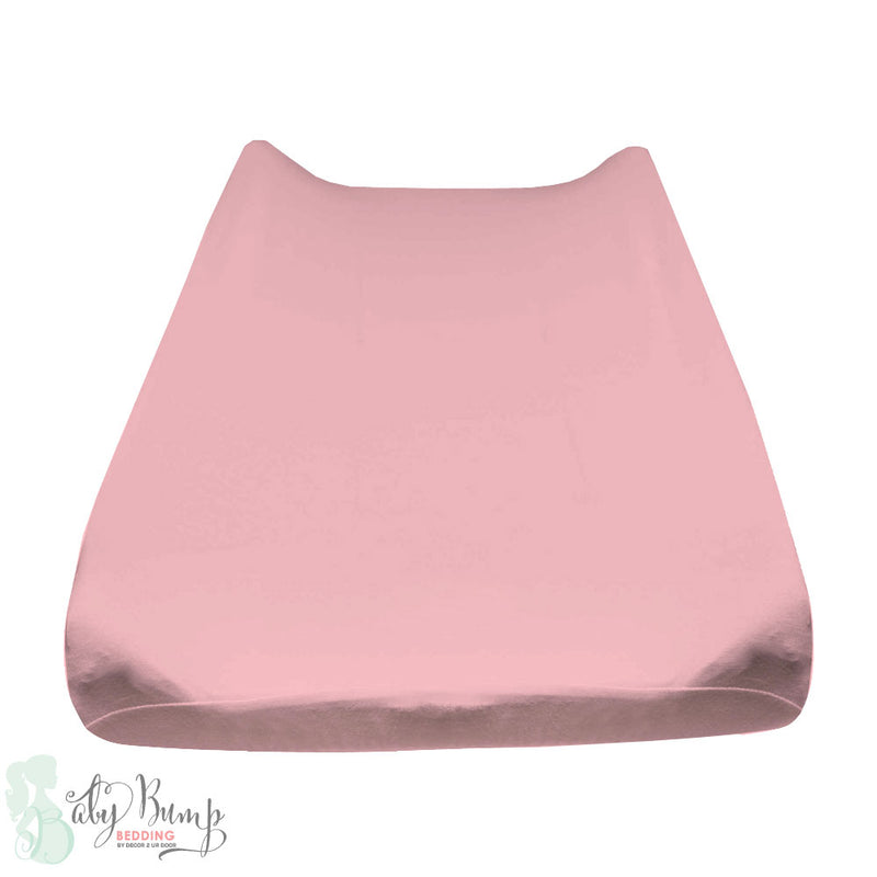 Solid Blush Pink Baby Changing Pad Cover